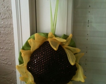 Sunflower Door Hanger Handmade Bright And Cheerful, Bring The Garden Inside !