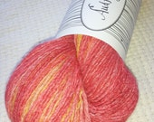 Reclaimed 100% Cashmere Fingering Weight Color Changing Yarn, more than 500 Yards