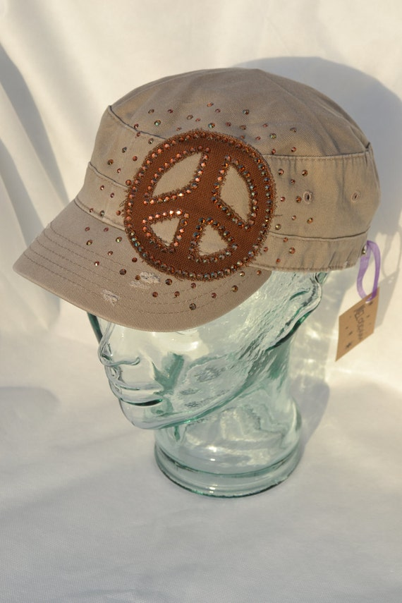 Items similar to peace sign cap on etsy