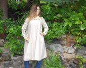 Vintage BONNIE CASHiN sills Wool Leather Swing Cape style Jacket COAT m-L