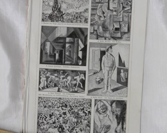1924 Impression Art Styles - German Text Lithograph