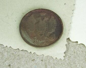1828 Old Russian COIN antique copper - 1 kopeck - CV15