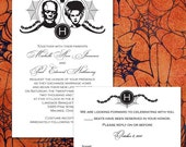 Custom Frankenstein Halloween Wedding Invitations