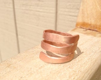 Hammered Copper Ring - adjustable