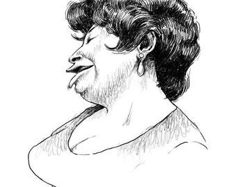 Ella Fitzgerald, 8.5x11 print