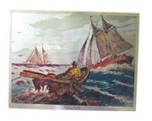 Color-Etch Print By Lionel Barrymore.  Fishing Banks.  Wall Art ID 005