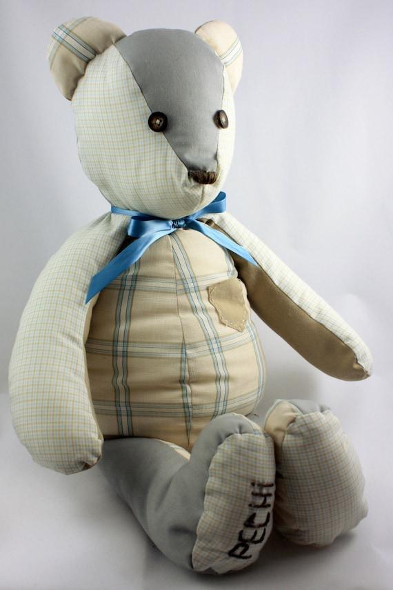 Personalized Keepsake Bear Memory Bear Stuffed Bear Custom Teddy Bear Bereavement Bear Personalized Gift Baby Keepsake Memory Stuffed Animal