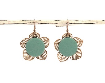 Foral Drop Earrings - 23 Color Options