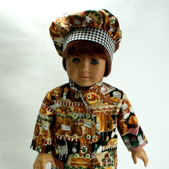 """18"""" Doll  American Girl Doll  Chef's Outfit - 3 Piece"""