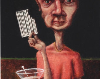 Lowbrow Pop surrealism limited edition art print by Pete Gorski titled: Filling the Void
