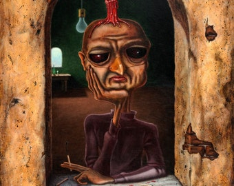 Lowbrow Pop Surrealism limited edition art print by Pete Gorski titled: What a Shame About Me