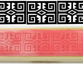 African Bracelet Design Stamp for Polymer Clay, PMC Clay - Ceramic Clay - Textiles - Scrapbooking - African Bracelet