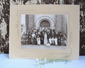 Vintage French Wedding Photograph / French Decor / French shabby Chic /
