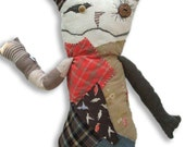 Stuffed, plush, cat/bunny/animal or as I like to call him, Freddie my funky, quirky buddy who is looking for a home.