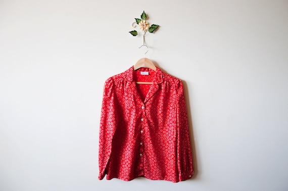 Vintage Red Levis Blouse - Medium