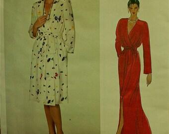 "Christian Dior Designer Dress -1980's - Vogue  Pattern 2874 Uncut  Size 10  Bust 32.5"""