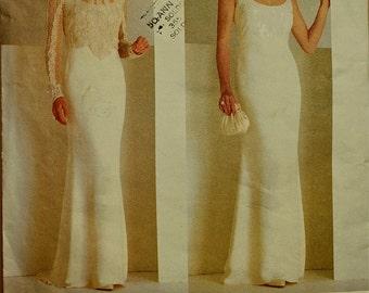 "Evening Gown by Badgley Mischka - 1990's - Vogue Pattern 2065  Sizes  18-20-22   Bust 40-42-44"""