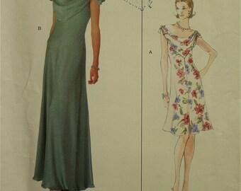 "Designer Gown by Bellville Sassoon Vogue Original Pattern 2108  Uncut  Sizes 6-8-10  Bust 30.5-31.5-32.5"""