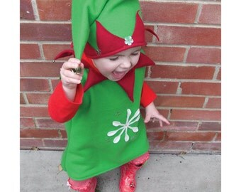 child's Santa's Elf costume for baby and toddler