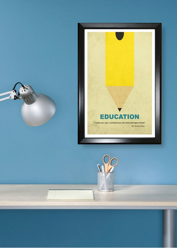 The Minimalist Classroom ~ Education minimalism poster print graduation teacher