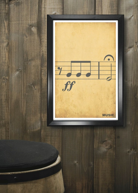 Minimalist Classroom Music ~ Music minimalism poster print graduation teacher