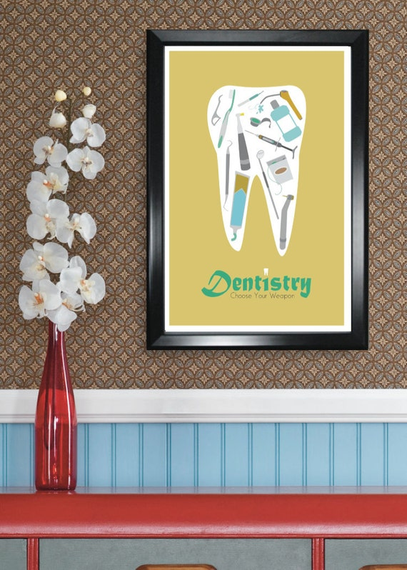 Dentistry 11x17 minimalism poster print - Graduation, Teacher Gifts - Home & Dorm Decor