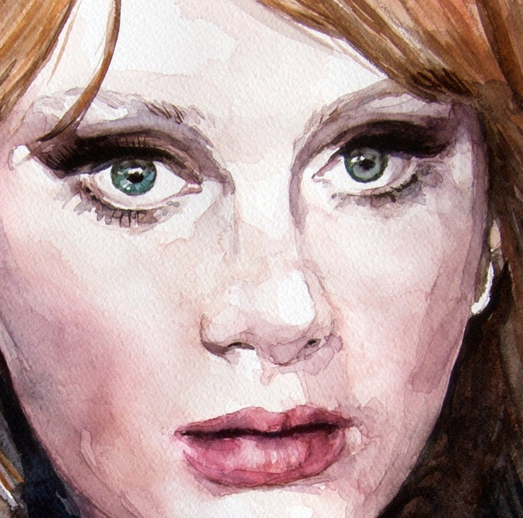Realistic Watercolor Portraits Adele Watercolor Portrait