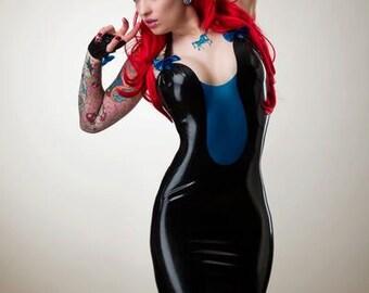 Latex Halterneck Backless Mini Dress