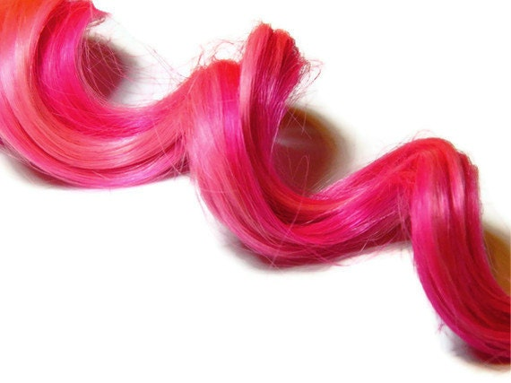 Pink Stripe Pastel Hair Extensions, Rainbow, Pastel, Dip Dye, Ombre, Clip in Human Hair, Real Hair RAVE edc festival hair