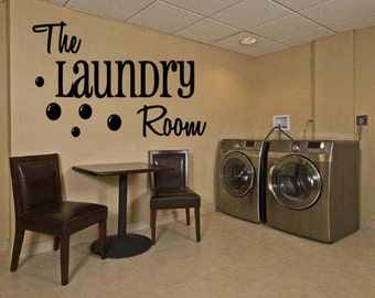 Wall Quotes The Laundry Room Vinyl Wall Decal Quote Removable Laundry Room Wall Sticker Home Decor (A54)