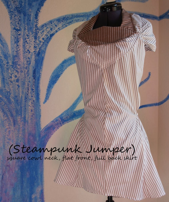 Square Neck Steampunk Dress Jumper (Custom Order)