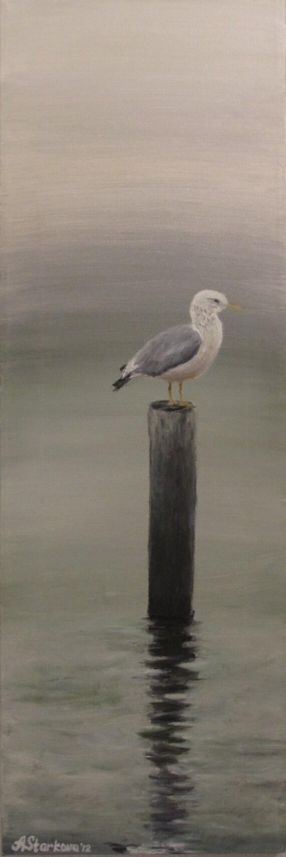 "Original oil painting ""Silence"" (10""x30"")"