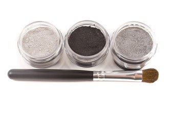 Mineral Eyeshadow Makeup - Smoky Eye Set - Eye Shadow Kit - 4pc BLACK TIE