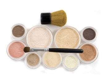 50% off Christmas in July | Mineral Makeup Set  - 12pc GETTING STARTED  - Natural Vegan Makeup