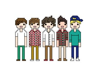 One Direction (version 2) cross stitch pattern