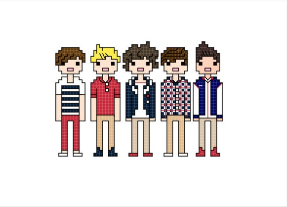 One Direction (Up All Night) cross stitch pattern