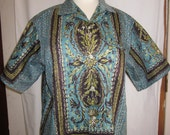 1950s Shirt Vintage Turquoise