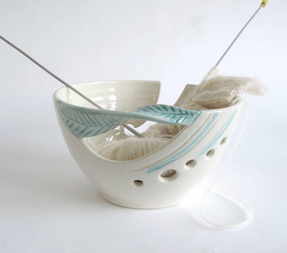 Knitting Yarn Bowl : Yarn bowl knitting personalized mom gift custom