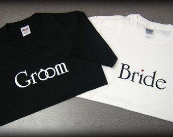 Bride and Groom T Shirts