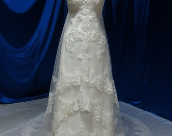Gorgeous Wedding Dress with Straps Vintage Inspired Lace Custom Made to your Measurements