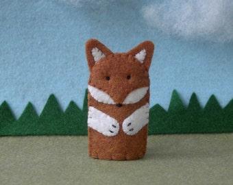 Fox Finger Puppet - Felt Finger Puppet Fox - Fox Felt Finger Puppet - Fox Puppet - Felt Fox Finger Puppet - Felt Fox Puppet