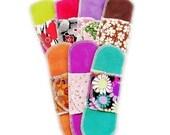 7 Organic Pantyliners Moonpads Cotton Reusable Washable Cotton Cloth Menstrual Pads