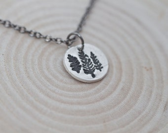Pine Tree Necklace Handmade Sterling Silver Pine Tree Jewelry Silver Necklace Pine Tree Necklace