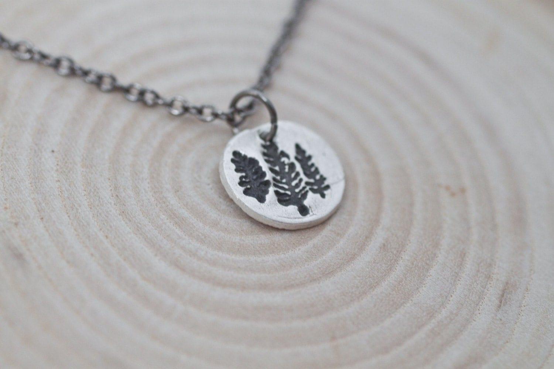 Pine Tree Necklace Handmade Sterling Silver Pine Tree Jewelry