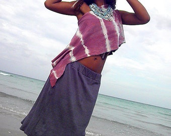 Hemp skirt custom made and hand dyed // organic clothing // eco-friendly // hemp clothing // fountain skirt