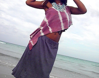 Double Layer Skirt. Organic hemp cotton blend. Eco friendly fashion. Made to order.