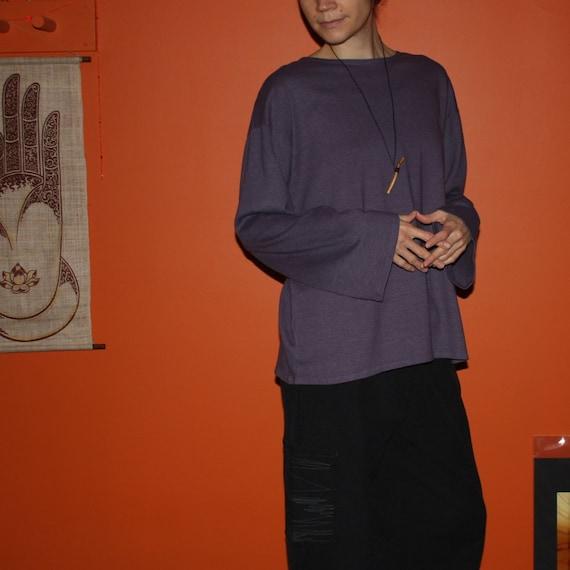 hemp clothing - universal long sleeve shirt - 100% hemp and organic cotton - custom made to order - unisex