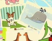 Alphabet Prints Nursery Art Print ABC Posters - Choose Any 3 Screenprint Animal Alphabet Art Prints Nursery Decor by strawberryluna
