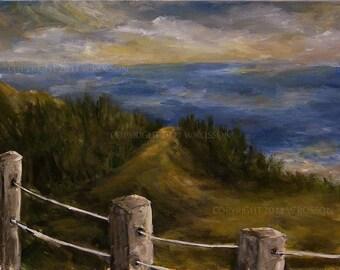 Gulf Shore, Beach Painting, Original Landscape, Original Art, Seascape, Travel, Summer, Beach, Coastal, Ocean, Winjimir, Home Decor, Gift,