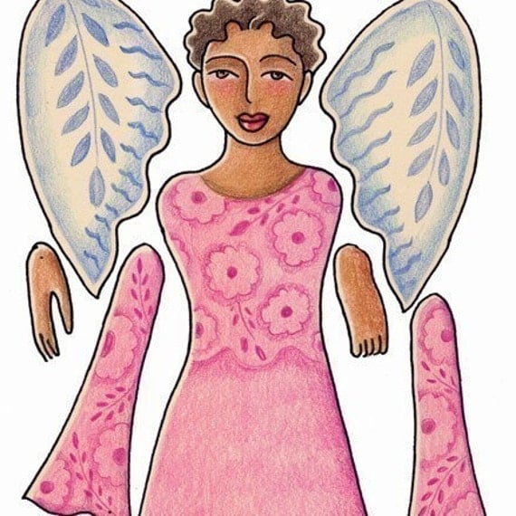 Angel of the Heart printable paper doll pattern